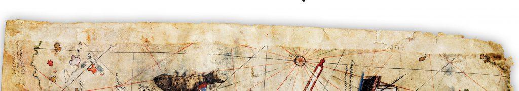Şekil 11 Piri Reis Haritasının bulunan kısmının üst kenarının görüntüsü