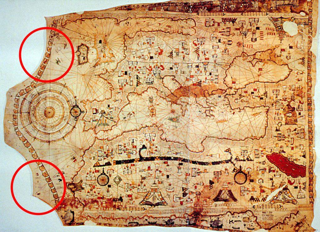 Şekil 3 Kanuni Sultan Süleyman dönemine izafe edilen el-Hâc Ebü'l-Hasan haritası . Kaynak: TSMK, Hazine, nr. 1822