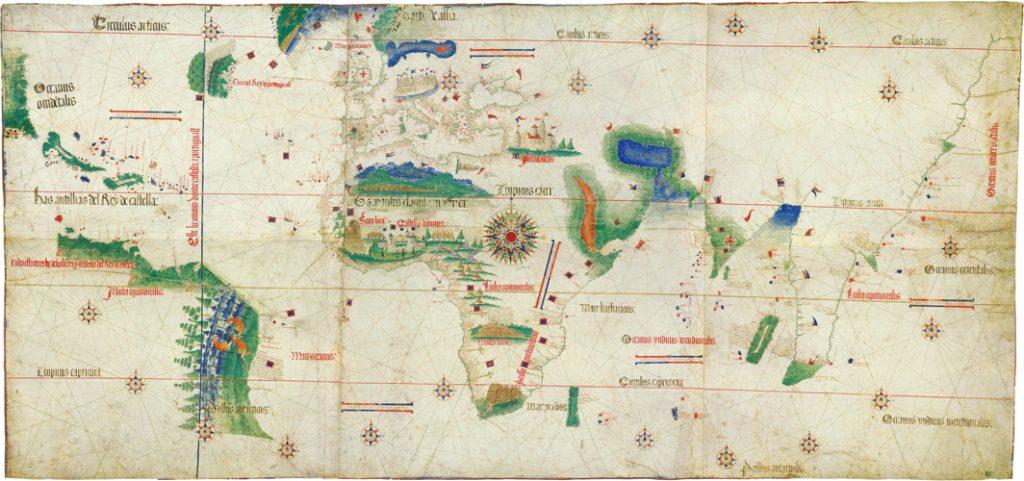 Şekil 6 Cantino Haritası 1500 Kaynak: Biblioteca Estense Universitaria