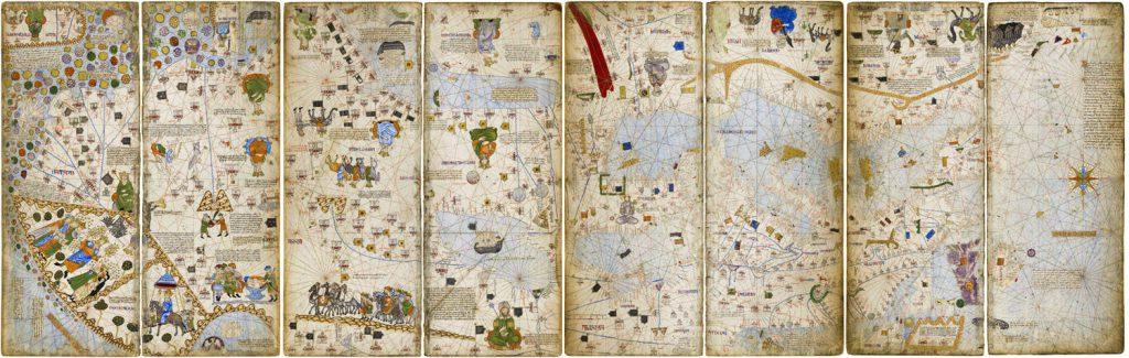 Şekil 8 Abraham Cresque'in 1375 yılında çizdiği Katalan Atlası
